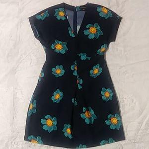 Banana Republic navy floral dress